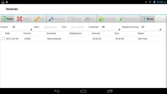 Express Invoice Invoicing Free - screenshot thumbnail