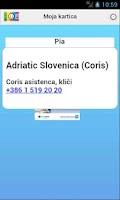 Screenshot of Moje Kartice
