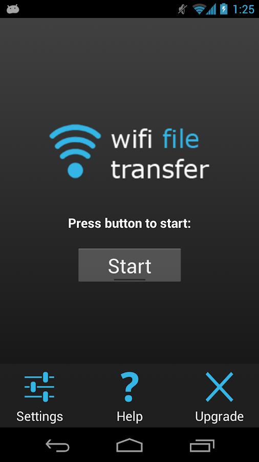 WiFi File Transfer - screenshot