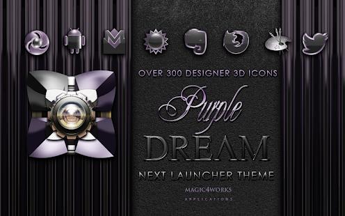 Next Launcher Theme Purple D