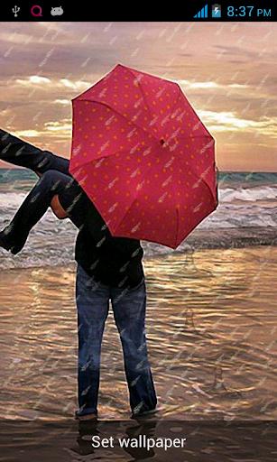 浪漫的雨動態壁紙