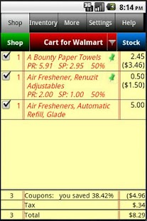 Grocery Tracker Shopping List - screenshot thumbnail