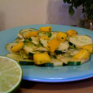 Balanced Senses Cucumber and Mango Salad.