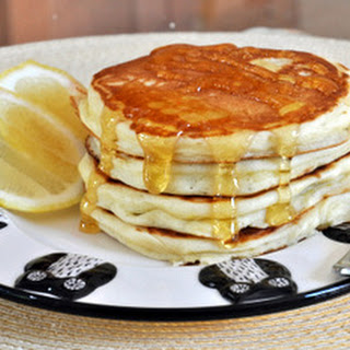 Fluffy Lemon Yogurt Pancakes.