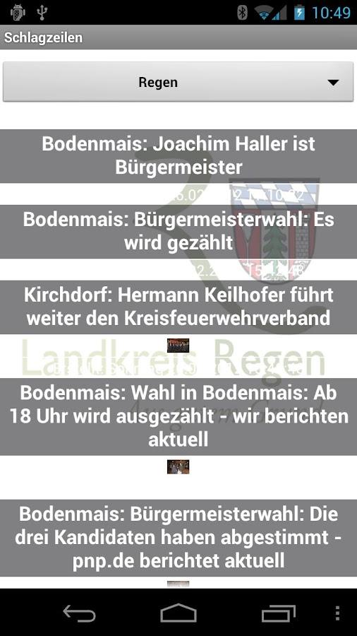 Landkreis Regen App- screenshot