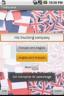 Traducteur Anglais/Francais - screenshot thumbnail