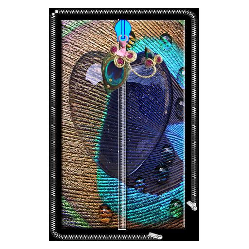 心臟孔雀郵編屏幕鎖定 個人化 App LOGO-APP試玩