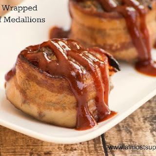 Bacon Wrapped Meatloaf Medallions.