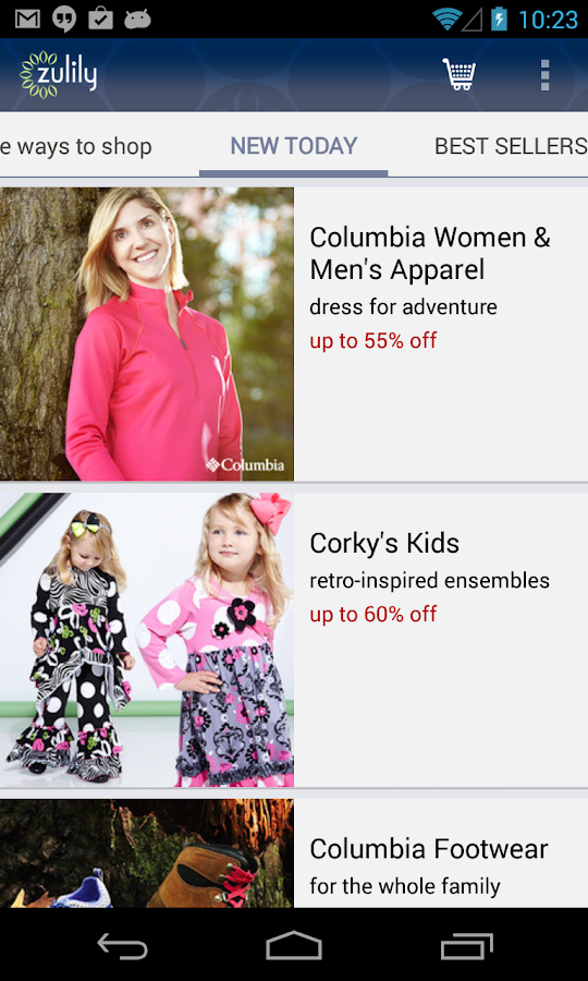 zulily - screenshot
