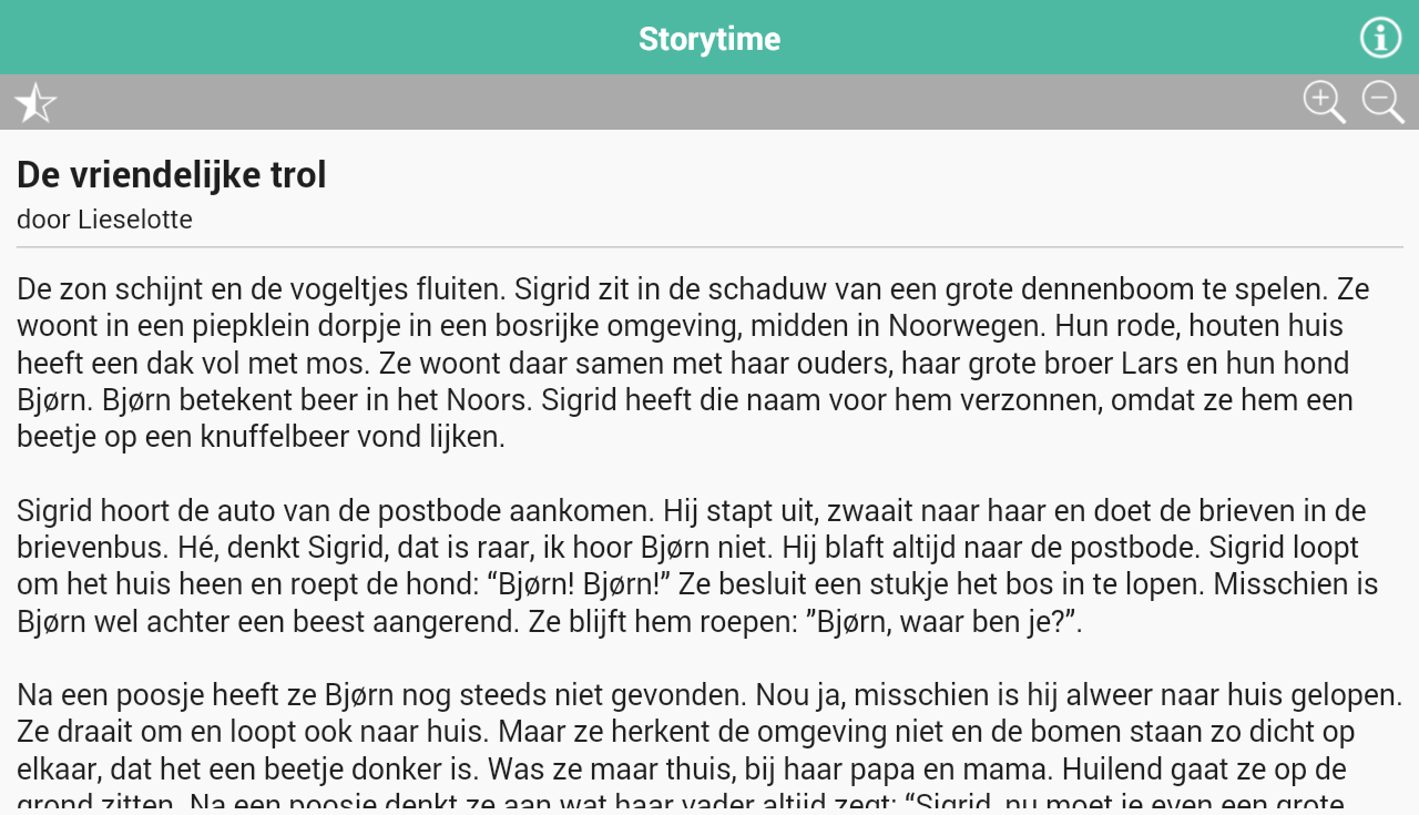 Storytime Kinderverhalen Lite- screenshot