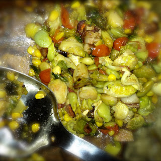 Brussels Sprout Succotash.