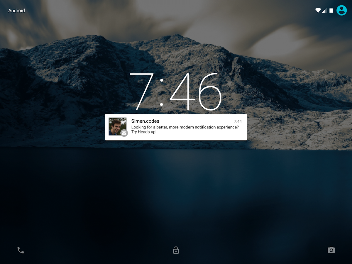 Heads-up Notifications- screenshot