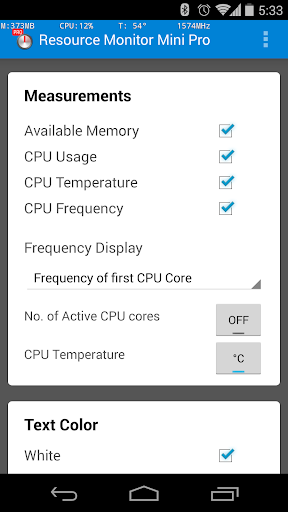 Resource Monitor Mini Pro  screenshots 5