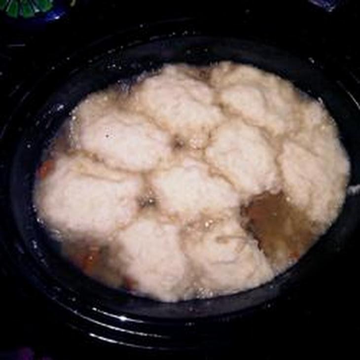 Slow Cooker Turkey Soup with Dumplings Recipe
