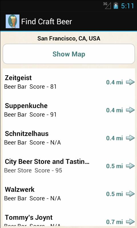Find Craft Beer - screenshot