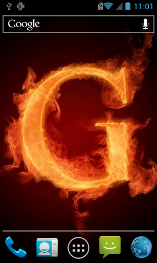 The fiery letter G live paper