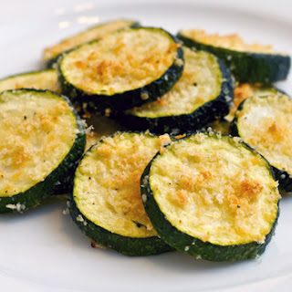 Zucchini Parmesan Bites (Adapted from Ellie Kriegar via Food Network).