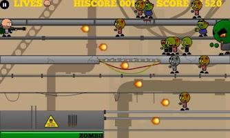 Screenshot of Yikes! Zombies! Shoot 'Em!