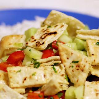 Middle Eastern Pita Salad.