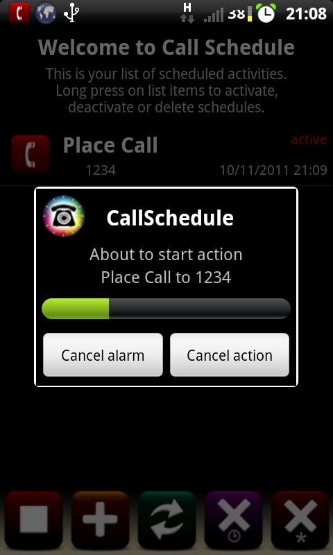 Call Schedule - screenshot