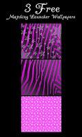 Screenshot of Purple Black Zebra Star Theme