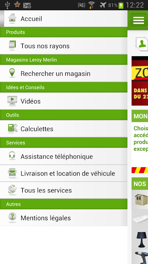 Leroy merlin applications android sur google play - Leroy merlin suivi commande ...