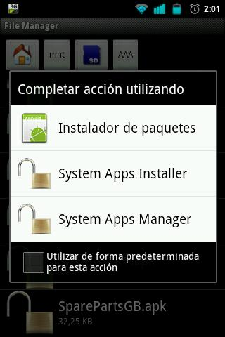 System Apps Manager [ROOT] - screenshot