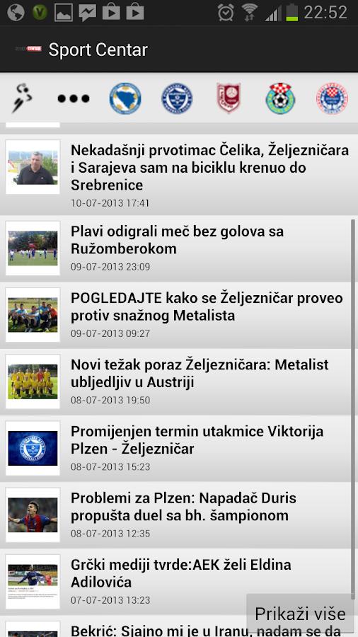 Sport Centar - scsport.ba- screenshot