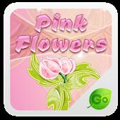 GO Keyboard Pink Flowers