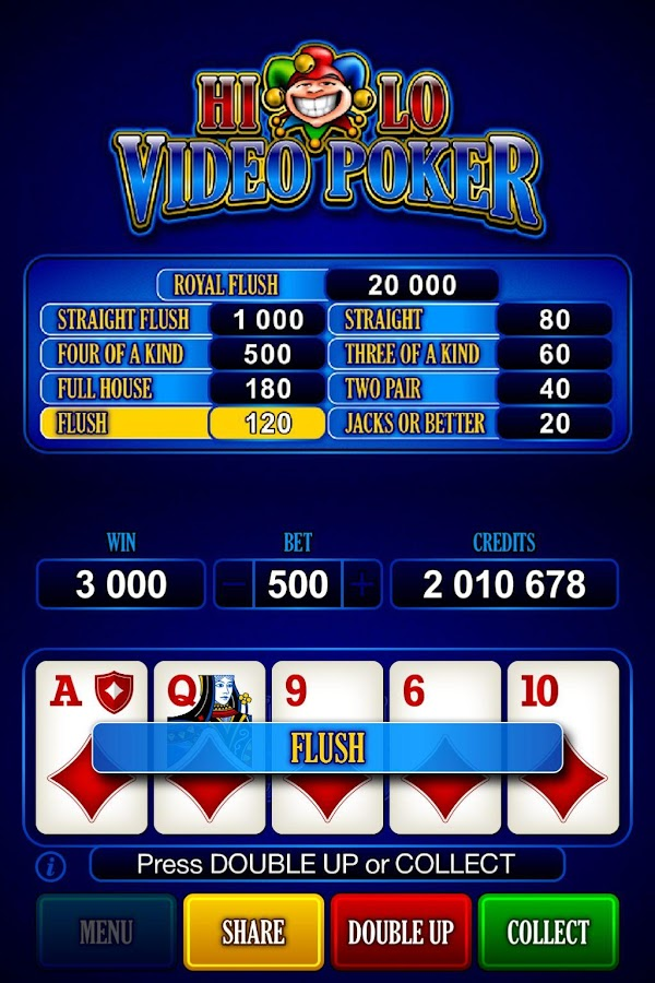 HiLo Video Poker- screenshot