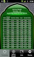 Screenshot of Masjid Timetable