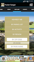 Screenshot of IA State Parks Guide