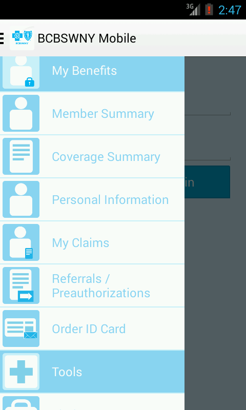 BCBSWNY Mobile - screenshot