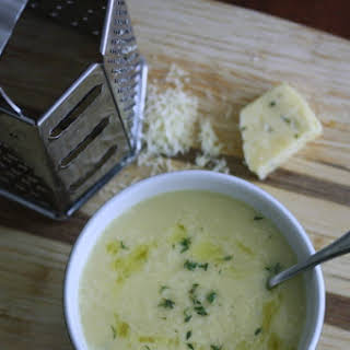Cauliflower Soup with Sharp Cheddar and Thyme.