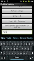 Screenshot of Turkish Keyboard Plugin