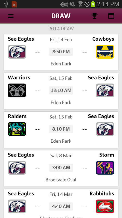 Manly Warringah Sea Eagles Android Apps On Google Play