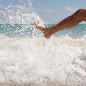 Kicking For Joy  by John CHIMON - People Body Parts