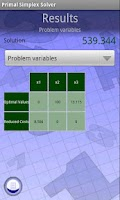 Screenshot of Primal Simplex Solver