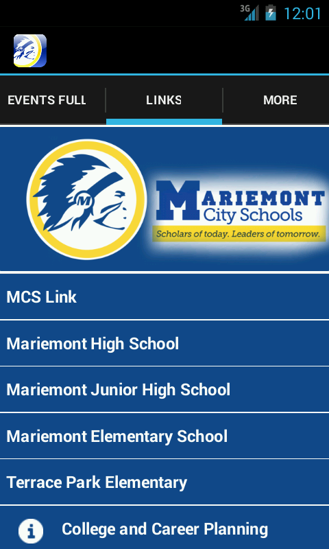Mariemont School District- screenshot