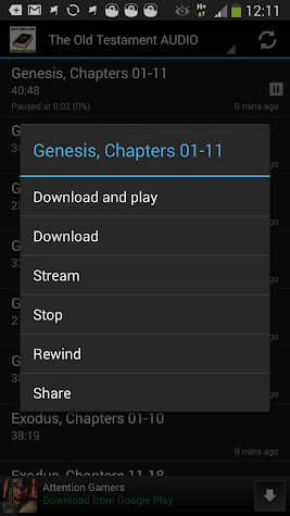 World English Bible Text & MP3 Screenshot