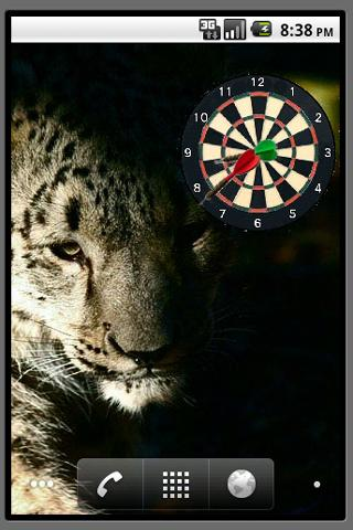 Dart Board Clock Widget - screenshot