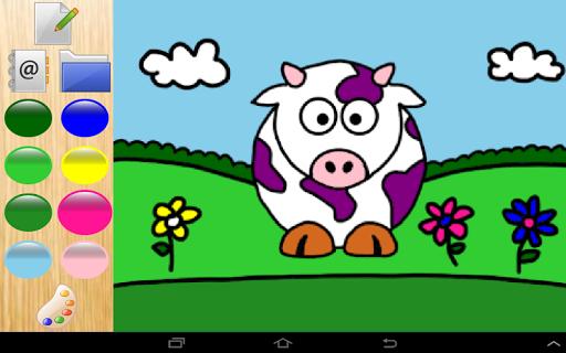 色彩農場動物