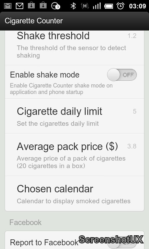 Cigarette Counter - screenshot