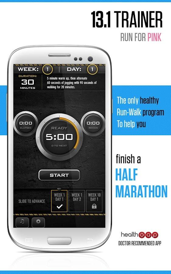 Half Marathon Trainer - screenshot