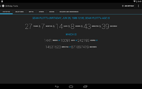 Age Calculator Birthday Facts - screenshot thumbnail