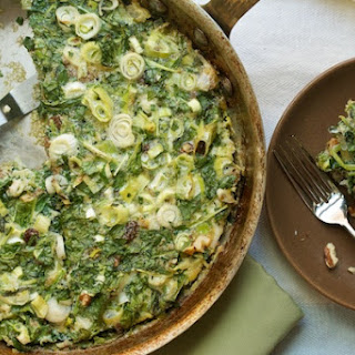 Iranian Kuku, or Baked Spinach & Herb Omelet.