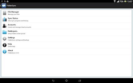 FolderSync Lite Screenshot 1
