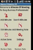 Screenshot of Minutes Of Meeting