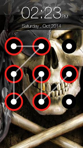 Skull Pattern Lock Screen 6.6 screenshots 2