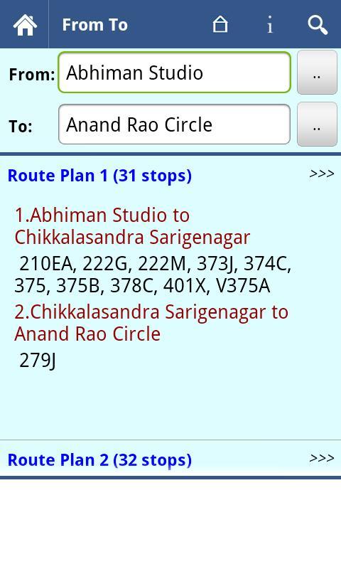 Bangalore BMTC Info - screenshot